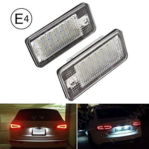 2 Stück Kennzeichenbeleuchtung, E-Zeichen-Zulassung, Canbus,Suparee fehlerfrei, 18pcs SMD LED weißes Licht
