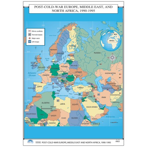 Middle East Wall Map (Post War Europe, Middle East, North Africa (U.S. History Wall Maps))