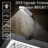 Lampada da lettura, Lampada da libro a LED ricaricabile con clip e 4 stadi di luminosità