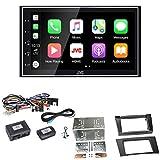 JVC KW-M745DBT CarPlay Android Auto Digitalradio USB Autoradio Touchscreen Bluetooth Moniceiver Einbauset für Mercedes E Klasse W211 CLS W219