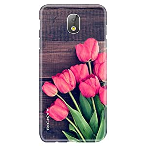 RICKYY Samsung Galaxy J7 Pro printed matte finish back cover/case cover/printed cover (Leaf And Red Rose design)