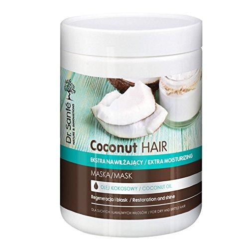 Mascarilla Extra Hidratante de Aceite de Coco para Cabello - Pelo Dañado Natural sin Sulfatos ni Parabenos Dr. Sante 1000ml