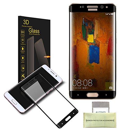 AKPATI Huawei Mate 9 Pro Protection d'écran 3D Prime Protecteur d'Ecran en Verre Trempé Protecteur d'écran Protection Anti-rayure Anti-traces -Noir