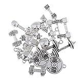 MagiDeal 20 Stück Legierung Fitnessgeräte Form Anhänger Charms Schmuck Set Anhänger Halskette Armband Charm
