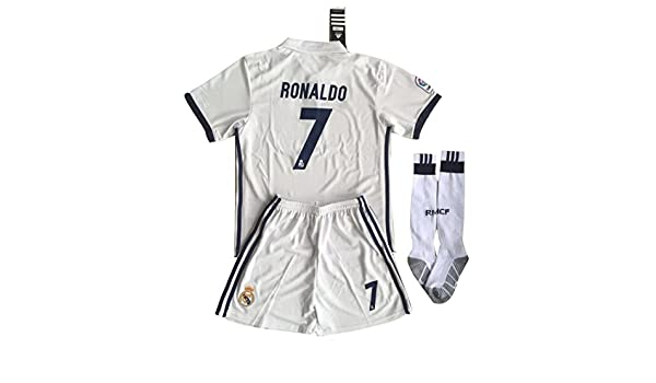 cc554822c47 Buy Real Madrid Kid s Ronaldo 7 Soccer Polyester Jersey Set - Shirt ...