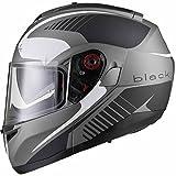 Black Optimus SV Tour Motorrad Roller Klapphelm XXL Matt Black White