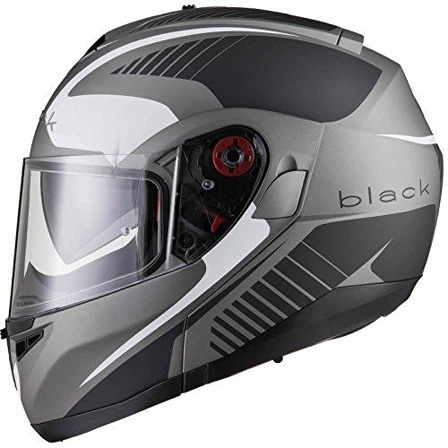 Black Optimus SV Tour Max Vision Flip Front Motorradhelm L Matt Schwarz
