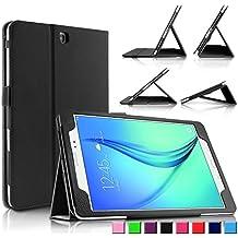 Infiland Samsung Galaxy tab A 9.7 Funda Case-Folio PU Cuero Cascara Delgada con Soporte para Samsung Galaxy Tab A 9.7 T550N/ T555N 24,6 cm WiFi/LTE Tablet-PC (9,7 pulgadas) (con Auto Reposo / Activación Función)