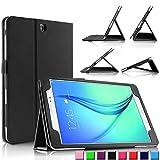 Infiland Samsung Galaxy tab A 9.7 Funda Case-Folio PU Cuero Cascara Delgada con Soporte para Samsung Galaxy Tab A 9.7 T550N/ T555N 24,6 cm WiFi/LTE Tablet-PC (9,7 pulgadas) (con Auto Reposo / Activación Función)(Negro)