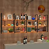 Willesego Bücherregal American Eisen Massivholz Trennwand hängende Racks Display Rack Küche Badezimmer Regal Wand Bücherregale (Größe: 30 * 100 * 105 cm) (Farbe : -, Größe : 30 * 120 * 105cm)
