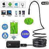 wisdin WiFi Endoskop, kompatibel mit Kein Wifi Funktion USB Endoskop, wasserdicht IP67mit 6verstellbaren LED-Lichtern, halbstarr Flexible Schlange Kamera für Android, iOS Smartphone, iPhone, Samsung, Tablet, PC