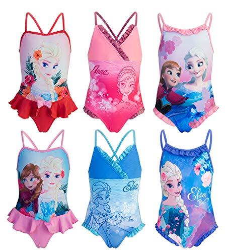 Galleria fotografica Disney Frozen - Costume Intero con Volant Mare Piscina - Full Print - Elsa e Anna - Bambina - novità Prodotto Originale con Licenza Ufficiale SE1XXX