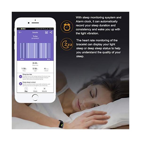 EUMI Smartwatch, Reloj Inteligente con IP67, Pulsera Actividad Inteligente Batería 10-15 días 1.3'' a Color 8… 7