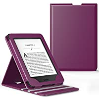 MoKo Case for Kindle Paperwhite - Premium Vertical Flip SmartShell Cover with Auto Sleep / Wake for All-New Amazon Kindle Paperwhite (Fits All 2012, 2013, 2015 and 2016 Versions), Purple