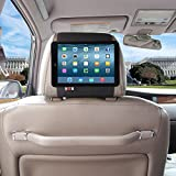 TFY Car Headrest Mount Holder for iPad Mini, Fast-Attach Fast-Release Edition, Black