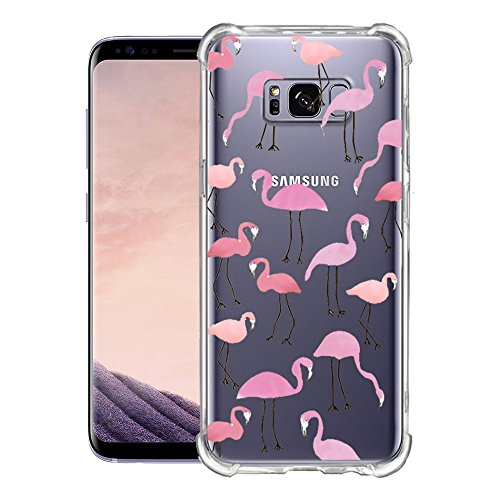 Coque iPhone Samsung Galaxy S8, blossom01 Cute Motif Premium TPU Souple Etui de Protection [absorbant les chocs] [Ultra mince] [Anti-rayures] pour iPhone Samsung Galaxy S8 - Ananas Flamant