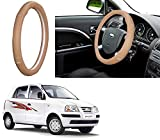 #4: Autopearl Auto Pearl - Adinox Premium Quality Ring Type Car Steering Wheel Cover (Gold Eye Beige) For -Hyundai Santro Xing