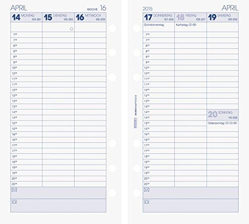 BRUNNEN Kalendarium für Timer, Ringbuchkalender Timer-Einlage Wochenkalendarium, 2015, 1 (107490115)