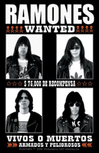 RAMONES WANTED  OFFICIALLY LICENSED ORIGINAL ARTWORK  HIGH QUALITY STICKER PEGATINA DECAL