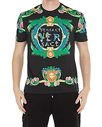 Versace - Maglietta da Uomo A77276 A224831 - Nero, M