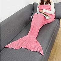 ZHULIAN Manta Punto Sirena Cola Aire Acondicionado sofá Oficina Sirena Casual (Color : Rosado,