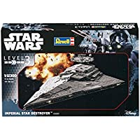 Revell Maqueta de Star Wars Imperial Star Destroyer en escala 1: Niveles 12300, 3, réplica exacta con muchos detalles, fácil pegar y para pintarlas, 03609