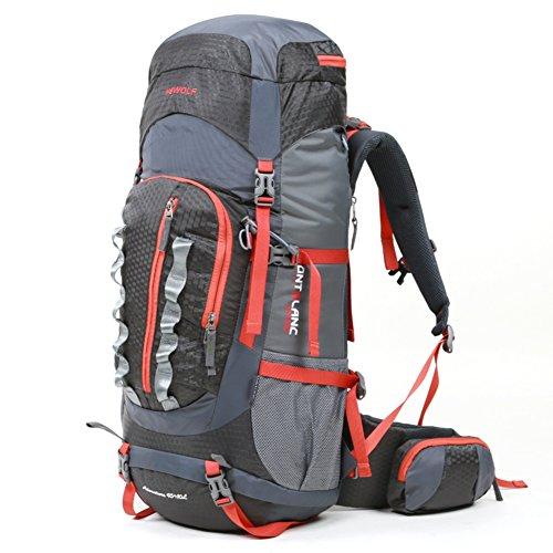 borse alpinismo esterno/zaino da viaggio/Gli uomini e le donne Backpack/Campeggio escursionismo borsa da viaggio impermeabile-blu 55L grigio