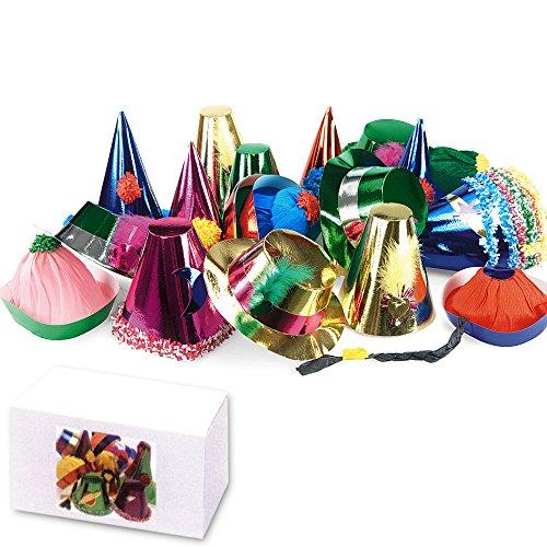 librolandia-04422-50-cappelli-grandi-metallizzati-in-scatola-modelli-assortiti-h-cm-10-25
