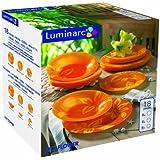 Luminarc raphsody service de table verre orange 18 pi ces cuis - Service assiette luminarc ...