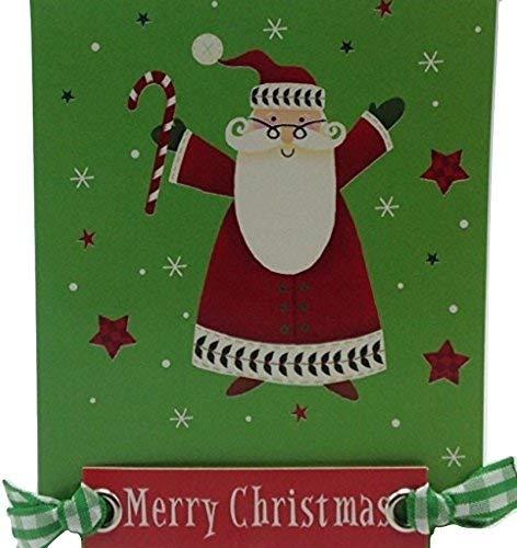 Weihnachtskarten mit Gingham-Muster, handmontiert, 9 x 12 cm, Aufschrift