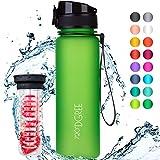 720°DGREE Trinkflasche 'uberBottle' - 500 ml, 0,5 l, Grün, Gruen - Neuartige Tritan Wasser-Flasche - Water Bottle...