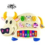 Musical Piano By CIERN, With 3 Modes Animal Sounds, Flashing Lights & Music (Cow Piano)
