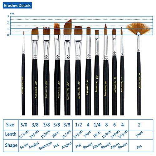 Zoom IMG-3 tedgem 12 pezzi pennelli acquerello