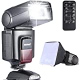 Neewer® Photo TT520 Speedlite Flash Kit for Canon Nikon Olympus Fujifilm and any Digital Camera with a Standard Hot Shoe Mount - Includes: Neewer® Flash + Softbox Flash Diffuser + Universal Wireless Camera IR Remote Shutter Release Control