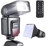 Neewer® Foto TT520Flash Speedlite Kit para Canon Nikon Olympus Fujifilm y de cualquier cámara digital con una zapata estándar Mount–Incluye: Neewer Flash + Difusor de flash Softbox + Universal inalámbrico cámara IR disparador remoto control