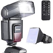 Neewer TT560 Speedlite - Kit de Flash para Canon,Nikon,Olympus,Fujifilm y Cualquier DSLR con Rótula Estándar(Incluye Neewer Flash,Difusor de Flash Softbox y Disparador Inalámbrico Universal IR)