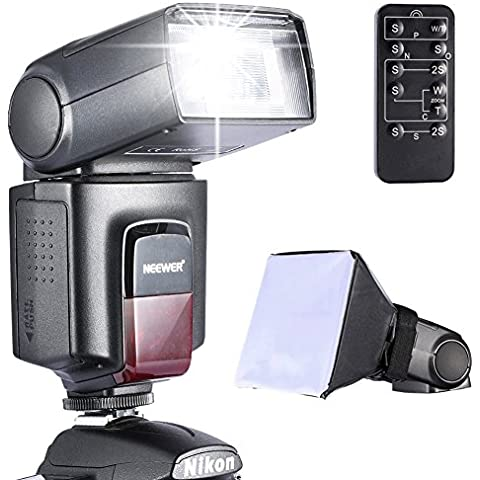 Neewer - Kit di TT560 Flash Speedlite per Canon Nikon Olympus Fujifilm e Qualsiasi Fotocamera Digitale Munita di Slitta Hotshoe Standard, Inclusi: Neewer Flash + Diffusore Softbox + Telecomando Universale Wireless a Infrarossi