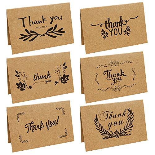 Dankeskarten, Satkago 36 Karte mit Danke Karten set mit 36 Umschlag - Danksagung nach Hochzeit, Geburtstag, Geburt, Taufe, Firmun, Jubiläum