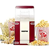 Geepas 1200W Electric Popcorn Maker Machine | Makes Hot, Fresh, Healthy and Fat-Free