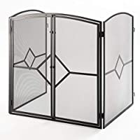 Crannog Superior Heavy Quality Fire Guard/Stove Screen H32 Fire Screen with Baby Safe Latch