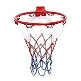 shedeu Wand montiert zum Aufhängen Basketball Ziel Hoop Rand Net Metall Sporting Goods Netz Innen- oder Outdoor für Basketball Spiel 45cm