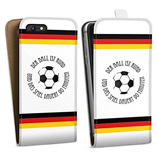 Apple iPhone X Silikon Hülle Case Schutzhülle Fußball Spruch Sport Downflip Tasche weiß