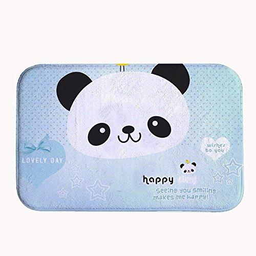 Rioengnakg super assorbente antiscivolo lovely Day un pulcino supporti della testa del panda, tappetino da bagno in pile corallo tappeto zerbino d' ingresso tappeto tappetini per anteriore esterno porte, 16