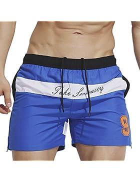 Highdas Pantalones cortos de natación para hombre atractivos Troncos Número de impresión Ropa de playa Pantalones...