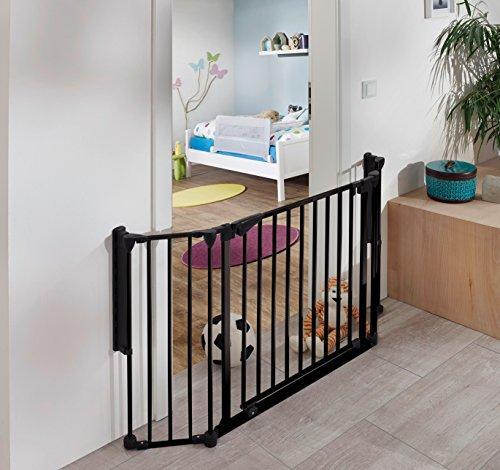 NEUHEIT Exklusiv IMPAG® Discovery | Türschutzgitter | Absperrgitter | Raumteiler | 80 - 125 cm | in 2 Farben und Größen | Baby | Kind | Hund | sicherheitsgeprüft