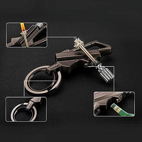 BOLLAER Neue Matchstick Metall Geschenk Outdoor Fire Starter Wasserpoof Survival Gear Wandern Match Feueranzünder Fire Starter Schlüsselanhänger (Schlüsselanhänger Fire Starter)