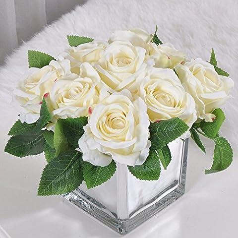 KAI-das wohnzimmer tisch rose blumen floral anzug moderne blumengesteck tabelle 9 white square - (Essbare Arrangements Weihnachten)