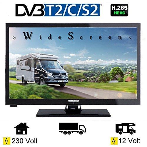 Telefunken L24H274K4 LED Fernseher TV 24 Zoll 61 cm, WideScreen Bilschirm, DVB-C (Kabel digital) DVB-T2 (digital Terrestrisch, neuster Standard H.265) DVB-S / S2 (digital Sattelit incl. HD-Kanäle) 12/230 Volt