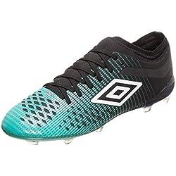 Umbro Velocita IV Pro FG, Botas de fútbol para Hombre, Verde (Black/White/Marine Green Gxv), 42 EU