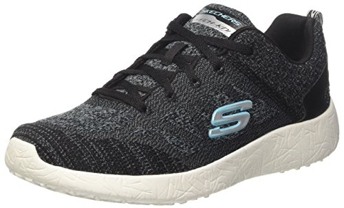 Skechers Damen Burst-Hats Off Sneakers Schwarz (Bkw)